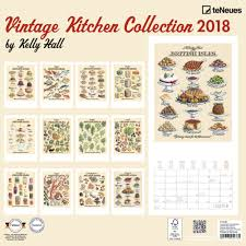 vintage kitchen collection 2018 wall calendar calendars com