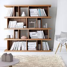 the mid century design of the elias bookshelf combines visual