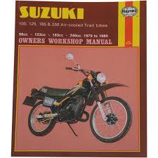 haynes repair manual suzuki ts air cooled trail bikes 100 125