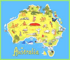 Austrailia Map Australia Maps Inside Map Of Ausralia Evenakliyat Biz