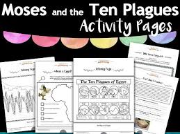 moses and the ten plagues activity pack freebie by pip29