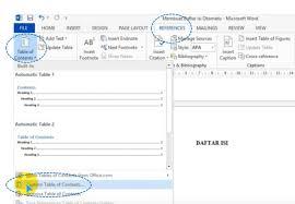 membuat daftar isi table of contents di word 2007 cara mudah membuat daftar isi otomatis di ms word penulis cilik