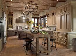 Wooden Country Kitchen - eccentric french country kitchen with awesome furniture
