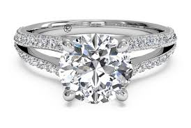 set ring cut set diamond v engagement ring with