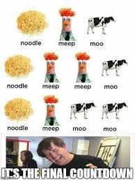 Moo Meme - noodle meep moo memes