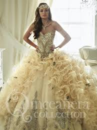 gold quince dresses quinceanera dress gown 26819