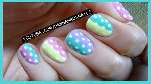 cute pastel spring polka dot nail art youtube