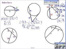 Segment Lengths In Circles Worksheet Answers Geometry 10 6 Find Segment Lengths In Circles