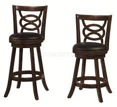 Swivel Bar Stool 101929 101930 24 Or 29 Swivel Bar Stools Set Of 2 By Coaster