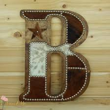 Cowhide Home Decor by Cowhide Wall Letter B Made To Order Western Home Decor