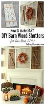 Wooden Window Shutters Interior Diy How To Make Easy Diy Barn Wood Shutters For Less Than 10 Diy