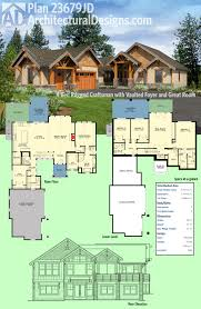 architectural designs craftsman house plan 23679jd has a rugged