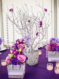 gems for table decorations vogue manzanita centerpiece tree with hanging gems and flowers