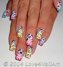 love4nailart fun multicolored animal print nails leopard u0026 zebra