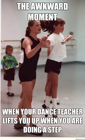 Awkward Black Kid Meme - the awkward moment when your dance teacher lifts you up when you