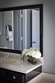 Bathroom Mirror Cost Strikingly Ideas Black Framed Mirrors For Bathroom Gorgeous Oval