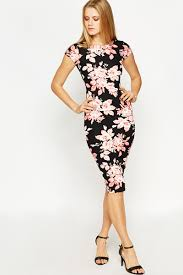 bodycon dresses large floral bodycon dress just 5