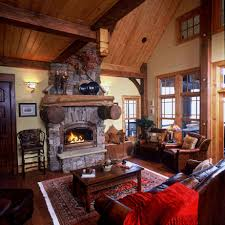Log Home Interior Decorating Ideas by Small Unvarnished Log Cabin Design Inspiration Furniture Mountain