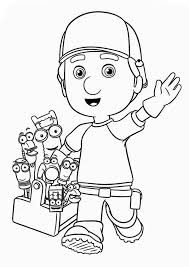 handy manny tools coloring pages greeting from handy manny and friends coloring page greeting from