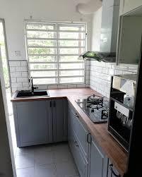 ikea bodbyn grey kitchen cabinets bodbyn grey karlby worktop subway ikea kitchen shah