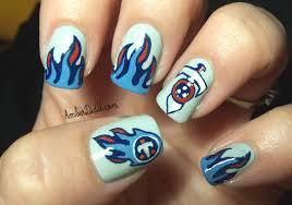 amber did it nfl nail art series 7 tennessee titans