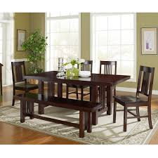 coaster furniture coaster alston 6 piece dining table set hayneedle