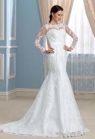 wedding dress with lace sleeves and open back high cut wedding