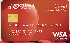 debit card icici bank coral debit card review capitalvidya