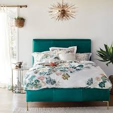 Turquoise Bed Frame Do Trials On Colors In Your Bedroom With These Simple Bedroom With