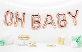 baby shower balloons oh baby balloons in gold gold or silver foil baby shower