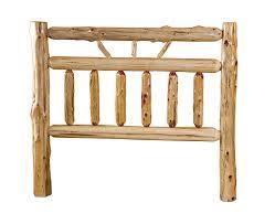 Wooden Log Beds Amazon Com Rustic Red Cedar Log Bed Queen Size Wagon Wheel