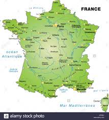 Provence Map France Card Outline Borders Atlas Map Of The World Map Stock