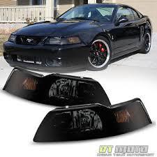 ebay mustang headlights black smoked 1pc 1999 2000 2001 2002 2003 2004 ford mustang