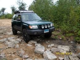 subaru outback lifted off road 7 28 12 green ride