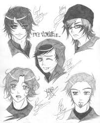 my chemical romance sketches by loveofangels png 674 823 pixels