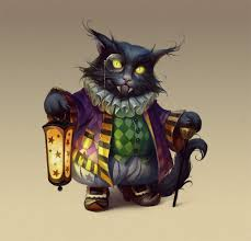 Black Cat Halloween Craft by Character Illustration Cartoon Fantasy Game Concept Cat