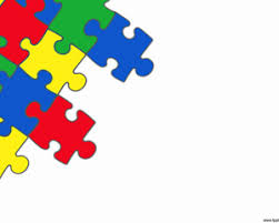 Puzzle Powerpoint With White Background And Colored Puzzle Pieces Puzzle Powerpoint Template Free