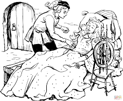 vintage sleeping beauty coloring page free printable coloring pages
