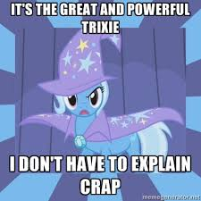 Trixie Meme - crunchyroll forum anime motivational posters read first post