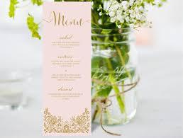 Diy Wedding Menu Cards Wedding Menu U2013 Xo Bspoke