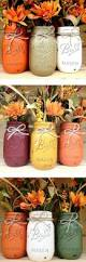 fall decor autumn ombre rustic painted mason jars mason jar