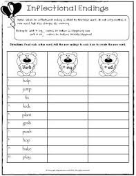 best ideas of inflectional endings first grade worksheets about