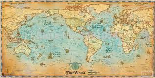 Decorative World Map 1pc Ancient Vintage Large Clear Modern English Antique Vintage