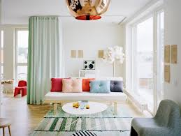 Bright Colored Curtains Apartment Small Apartment Decorating Ideas On A Budget Pastel