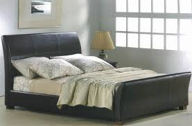 sheffield faux leather double bed brown faux leather beds