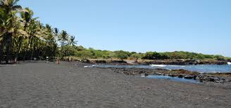 Black Sand Beaches by Punaluu Black Sand Beach Big Island Of Hawaii