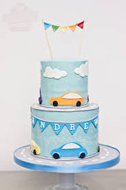buttercream birthday cake with cars theme by dream day cakes in