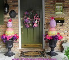 Seasonal Home Decorations Easter Egg Topiary The Seasonal Home Easter Egg Door Decorations