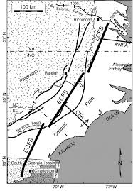 Map Of Eastern Virginia by Evidence For A Buried Fault System In The Coastal Plain Of The