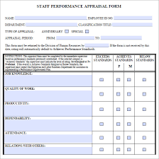 staff evaluation u2013 9 free samples examples format